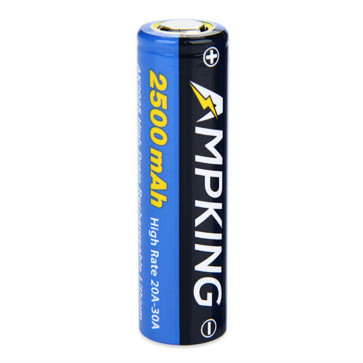 Accu rechargeable Ampking 18650 AK2025 - 2500mAh 30A