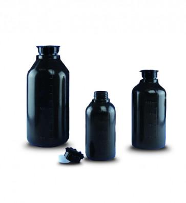 Bouteille cylindrique opaque à col étroit