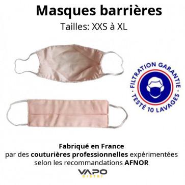 Masque barrière de protection en tissu covid-19 enfants adultes afnor garanti 10 lavages