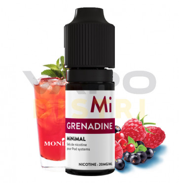 Liquide prêt-à-vaper  Minimal - Grenadine - 10ml