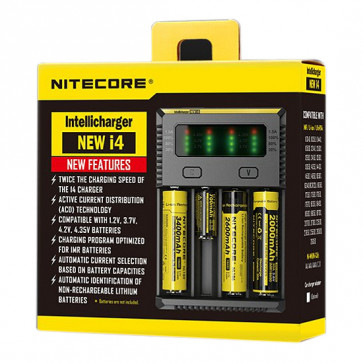 Chargeur d'accus Nitecore Intellicharger New I4 Li-ion / NiMH Euro Plug