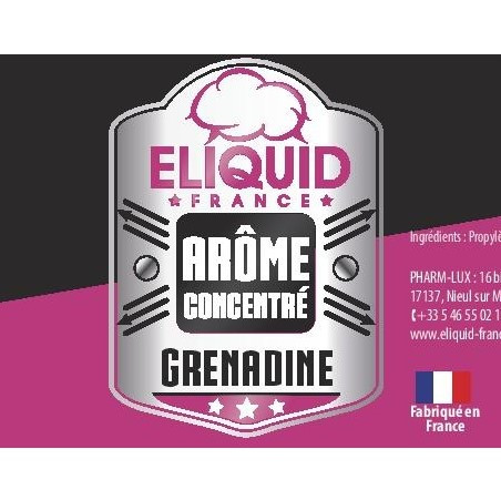 Arome concentre grenadine eliquid france 10ml pas cher