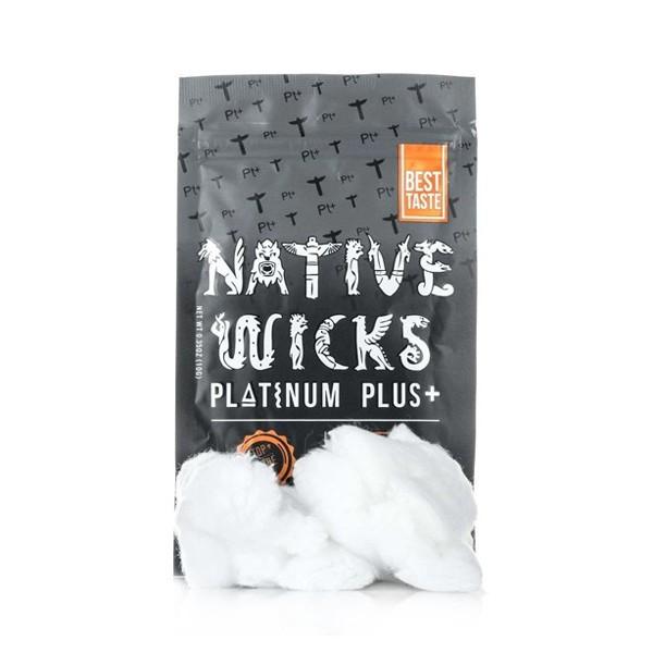 Coton Native Wicks Platinium Plus Cotton  de face avec le coton