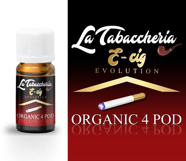 concentré e-cig organic 4 pod la tabaccheria 10ml