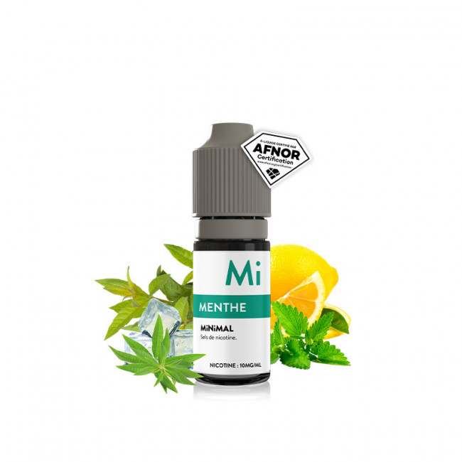 Liquide Minimal - Menthe - 10ml (sels de nicotine) 10mg/ml