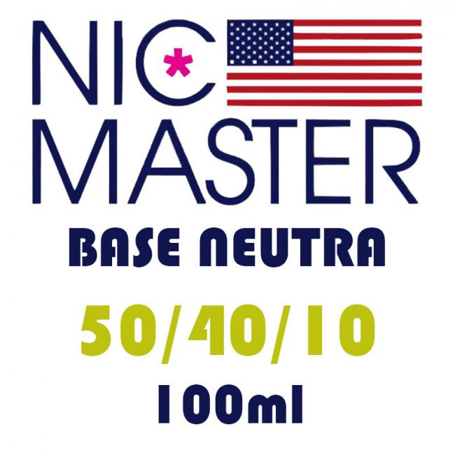Base neutre Nic Master - 50PG/40VG/10H2O -100ml