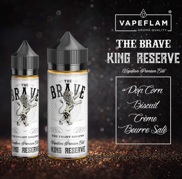 The Brave King Réserve Vapeflam gourmand 50 100ml pas cher