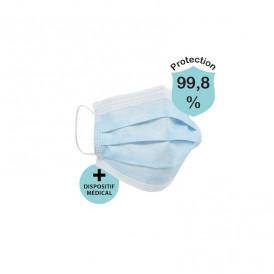 Masque chirurgical dispositif médical Norme CE lot de 50 expédition depuis la France