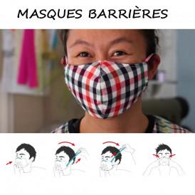 Masque barrière de protection en tissu covid-19
