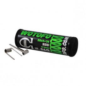 Boite de 10 coils préfaits Wotofo Quad Core 28Gax4+36Ga