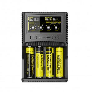 Chargeur d'accus Nitecore Intellicharger SC4 Li-ion/NiMH  avec prise euro