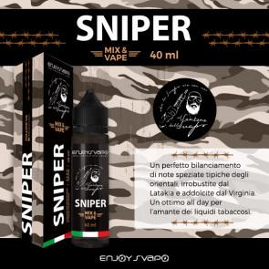 Liquide prêt-à-booster  EnjoySvapo - SNIPER by il Santone dello Svapo - 40ml