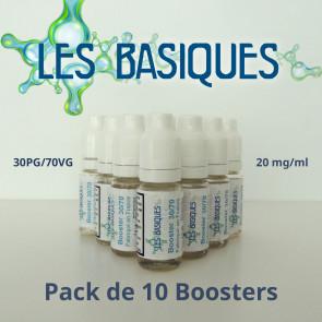 Lot de 10 boosters de nicotine Les Basiques 30PG/70VG -20mg/ml