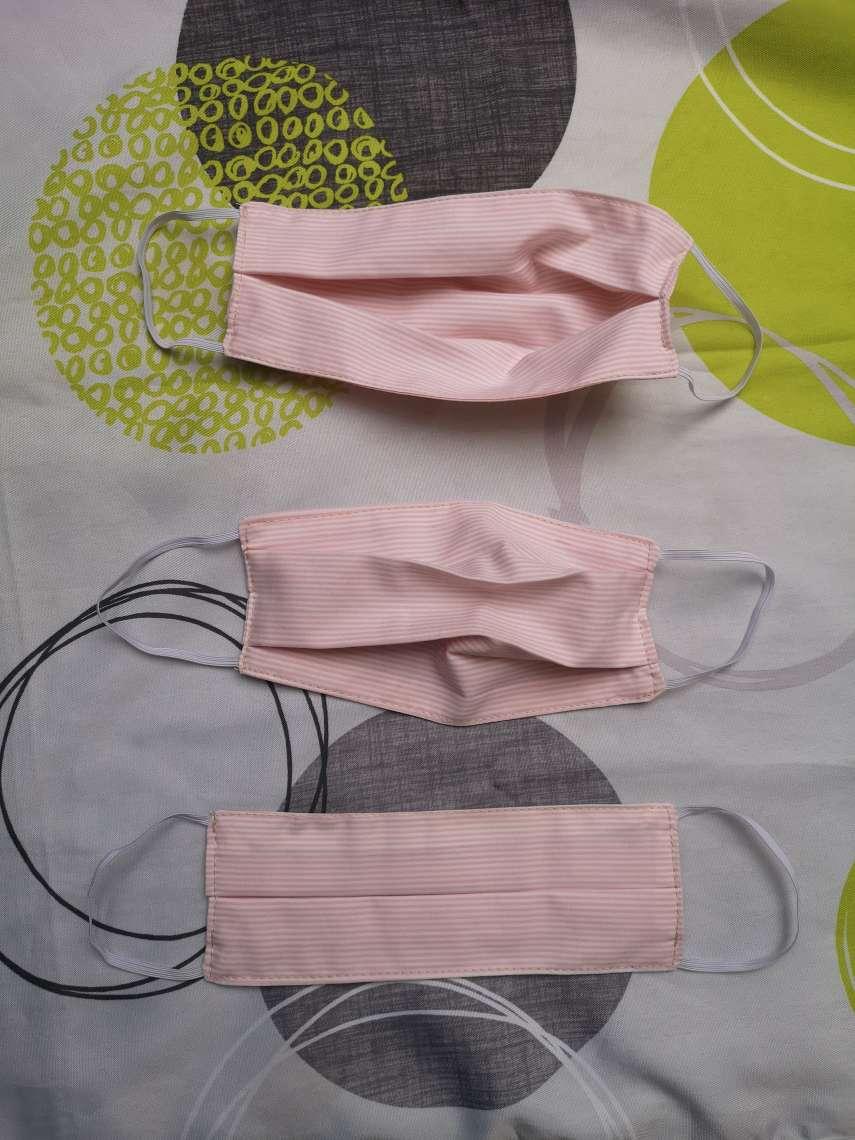 masques en tissu vu ouvert et fermé
