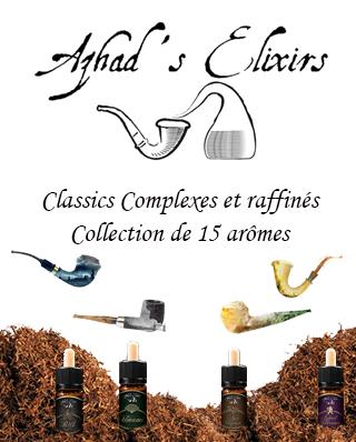 concentrés macérats tabac Azhad's elixir italien