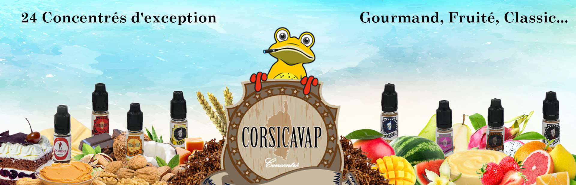 Corsicavap arômes concentrés liste compléte selection