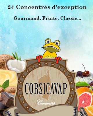 Corsicavap arômes concentrés liste complète selection