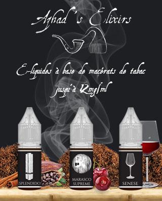 e-liquides macérats de tabac Azhad's elixir VapoDistri